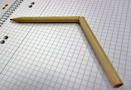 Zerbrochener Bleistift