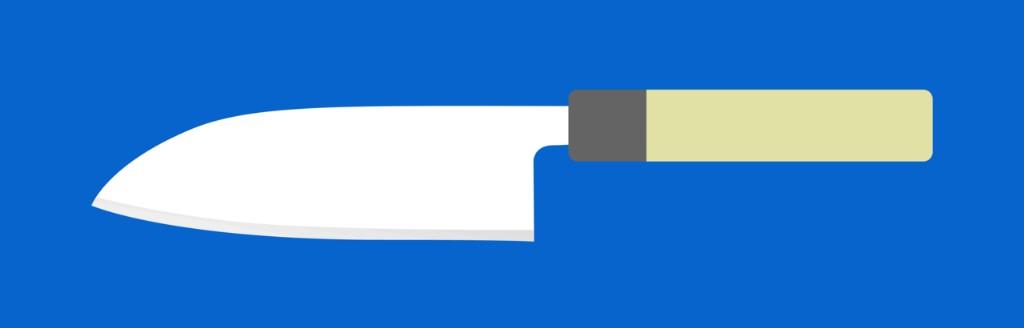 Beispielbild eines Messers als Vektorgrafik