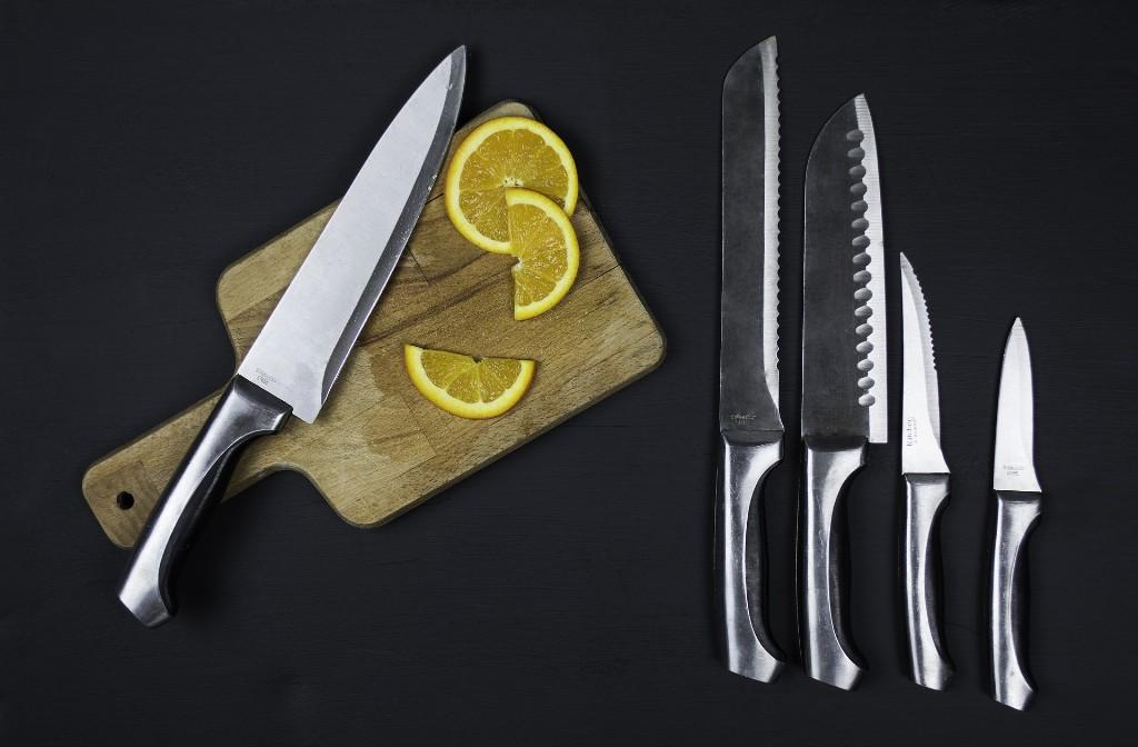 Verschiedene Küchenmesser Arten