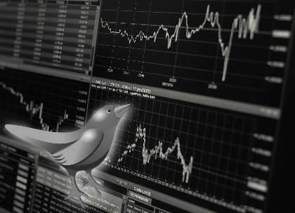 Aktienkurse auf Monitoren